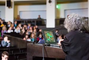 Prof. Dr. A. Yonath während ihres Vortrages